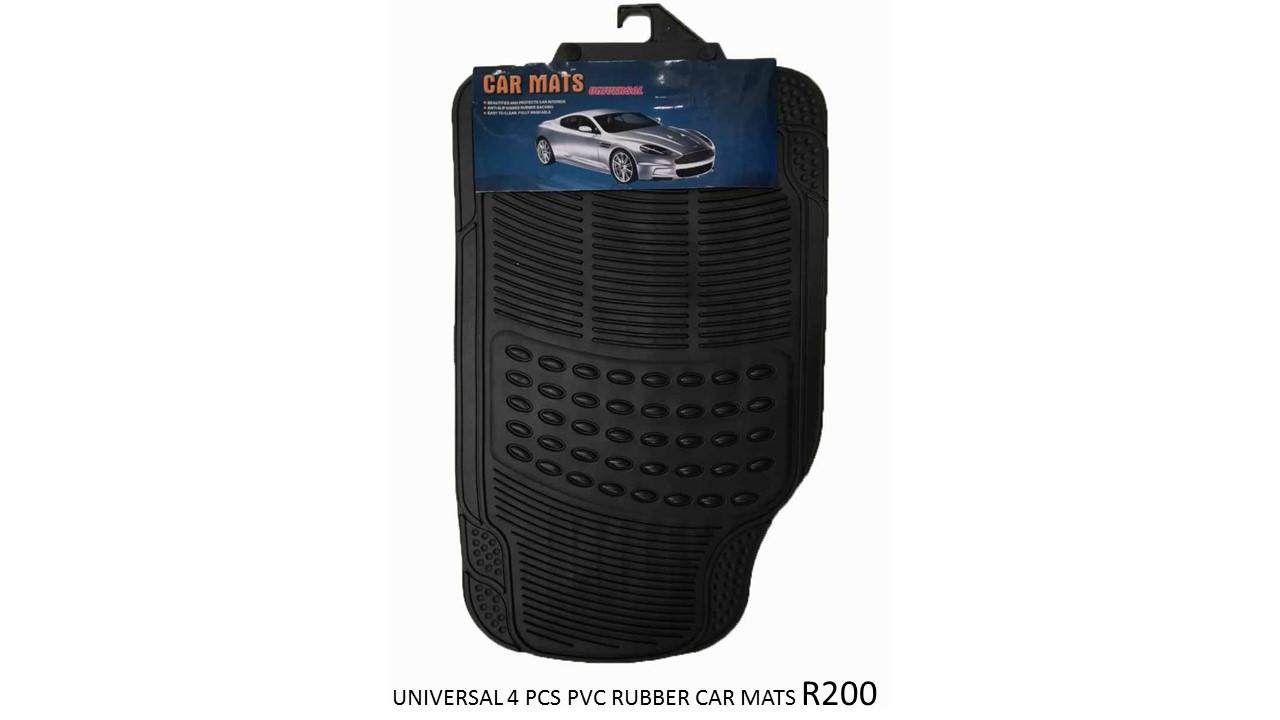 UNIVERSAL 4PCS PVC RUBBER CAR MATS