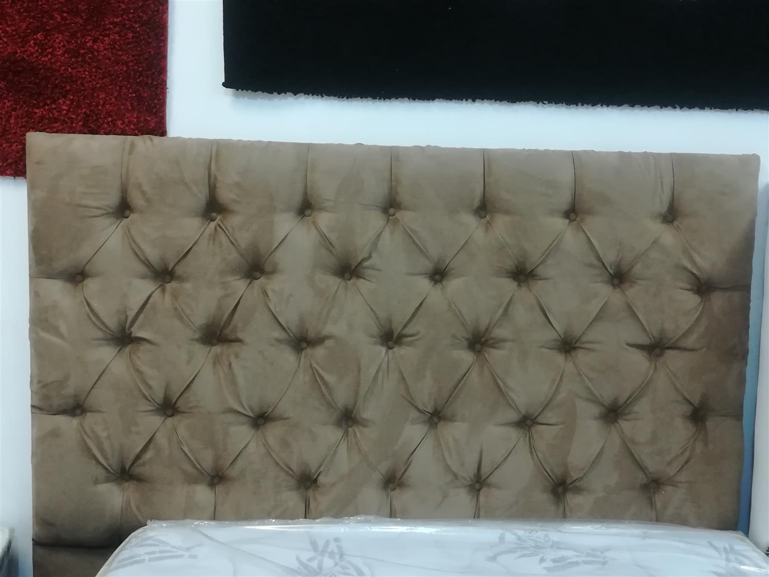 New Queen Beige suede headboard