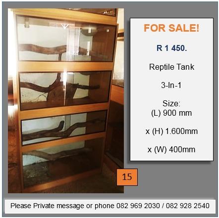 REPTILE TANKS and Shelf