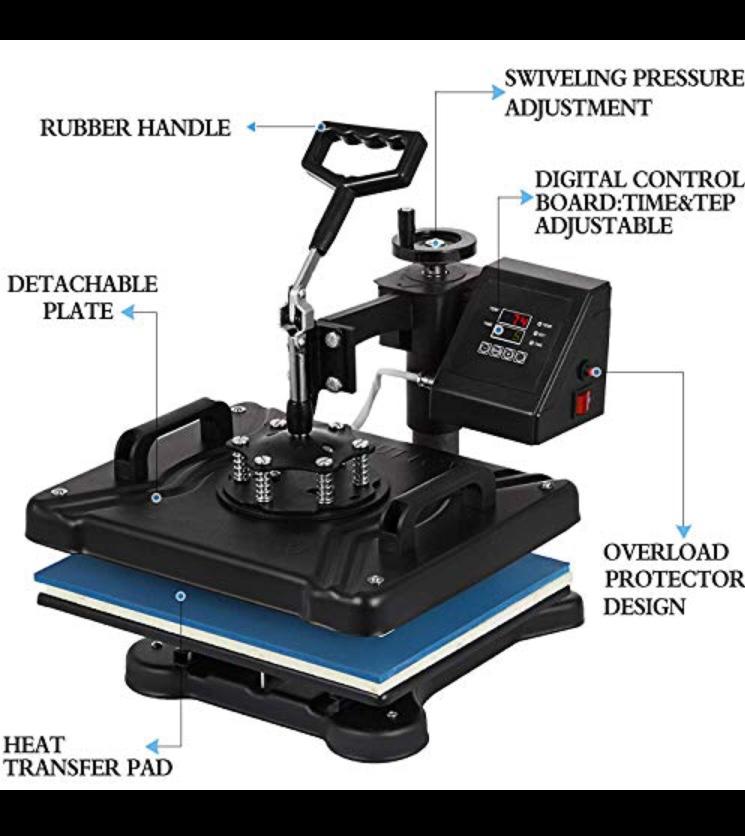 Vevor 5-in-1 Heat Press