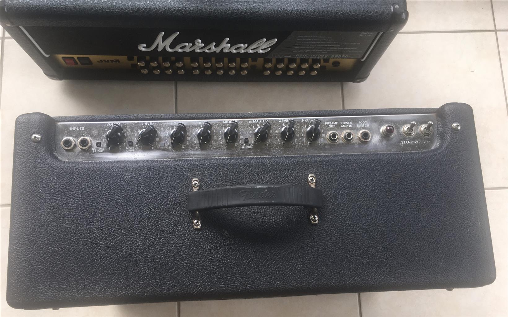Various amps and gear