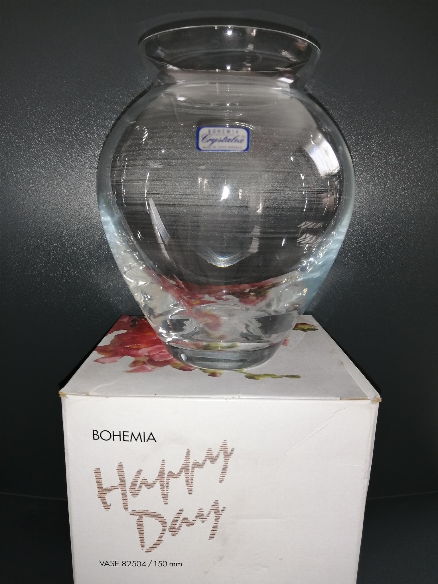 Bohemia Crystalex Vase - Produced in the Czech Republic