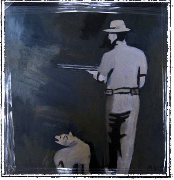 ACRYLIC PAINTING - HUNTER - FOR ONLY R50