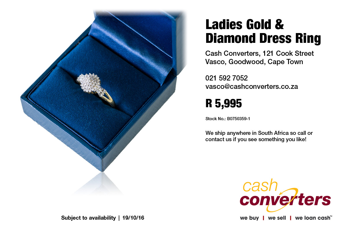 Ladies Gold & Diamond Dress Ring