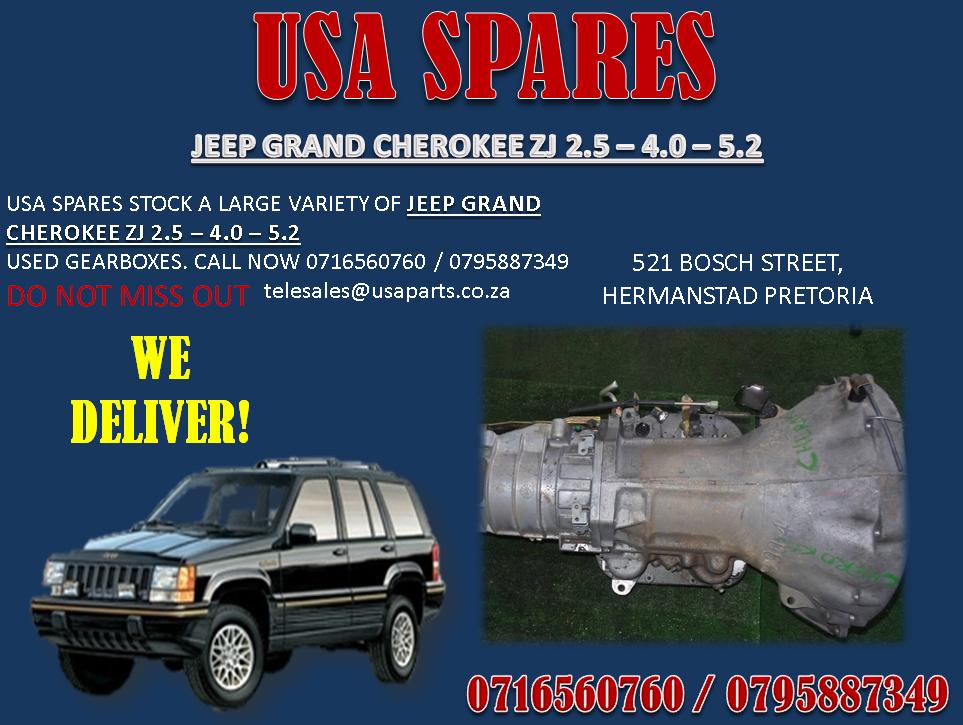 JEEP GRAND CHEROKEE ZJ GEARBOX. USA SPARES