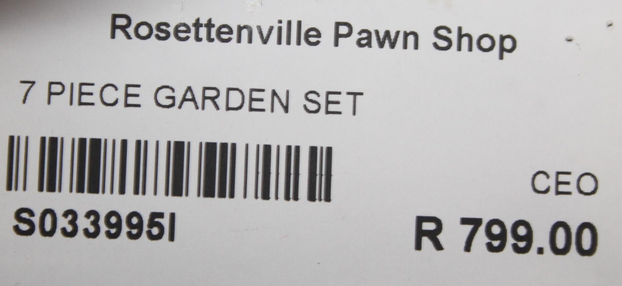 S033995I 7 Piece garden set #Rosettenvillepawnshop