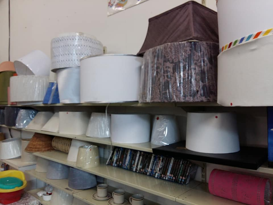 Various size and color lampshades