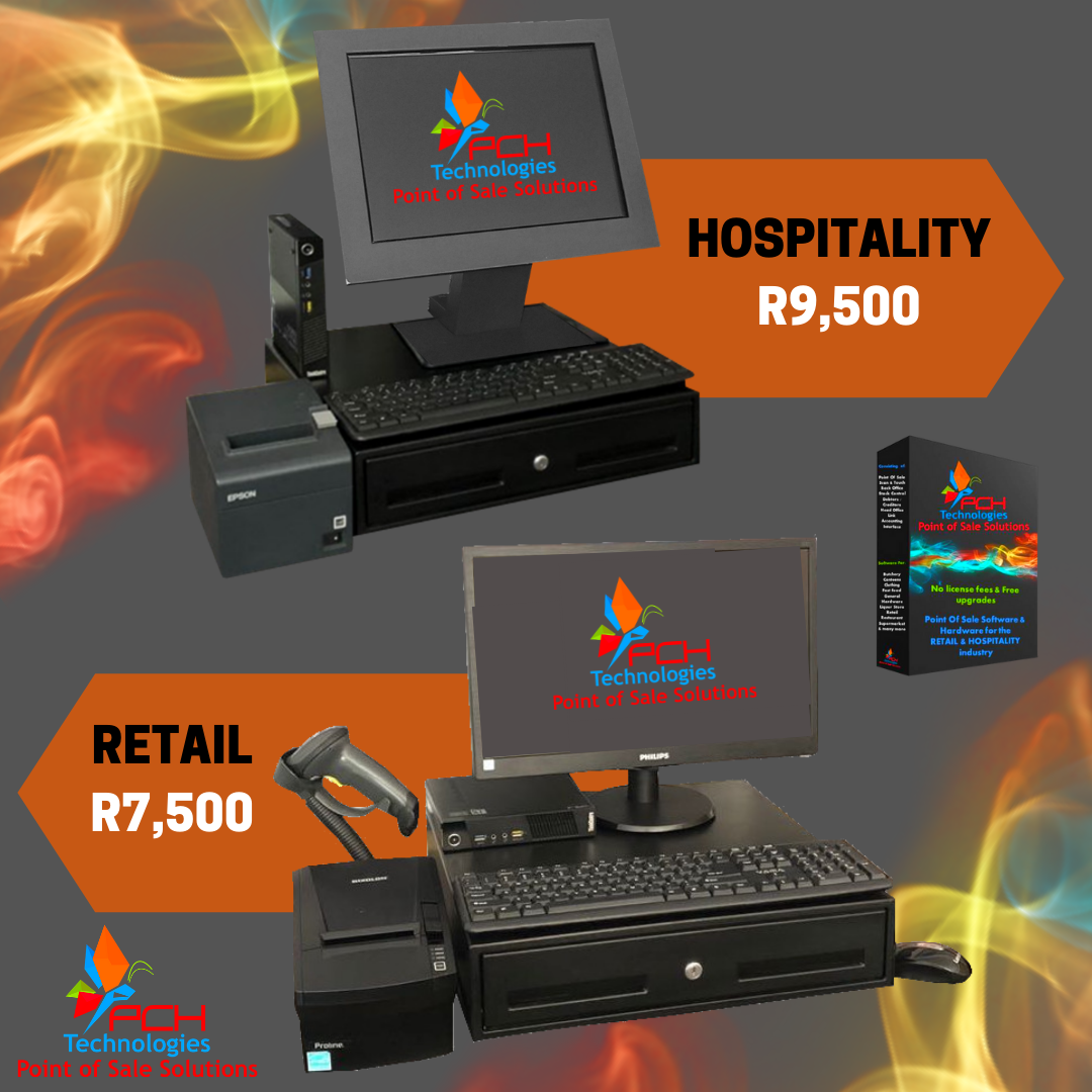 Retail Point of Sale System Complete (Refurb) R7500 Incl