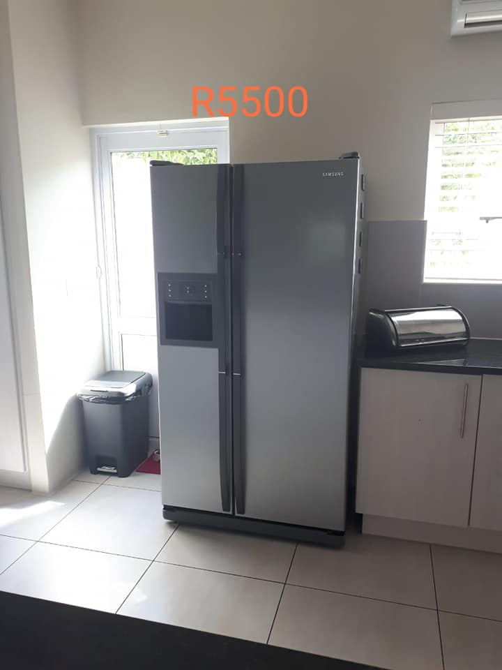 Silver double door Samsung fridge