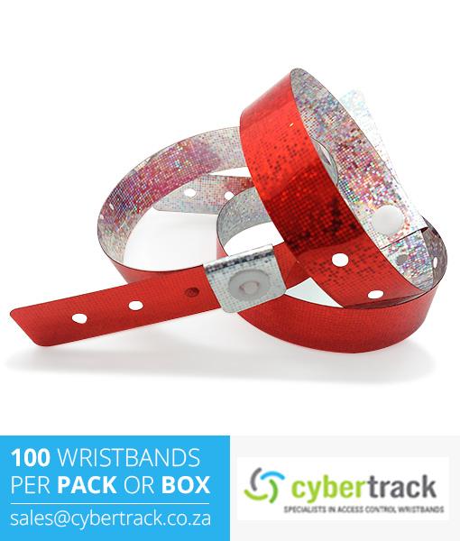 100 Hologram Wristbands Pack