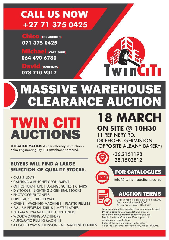 Massive Warehouse Clearance