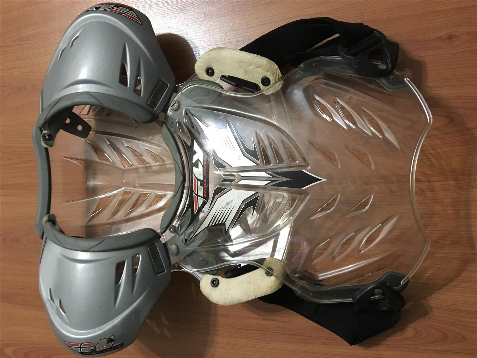 Chest protector vest with back and shoulder protection