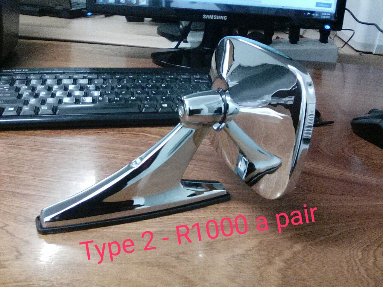 Classic vintage silver chrome side mirrors 0722295845