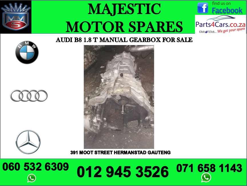 Audi B8 1.8 T manual gearbox for sale
