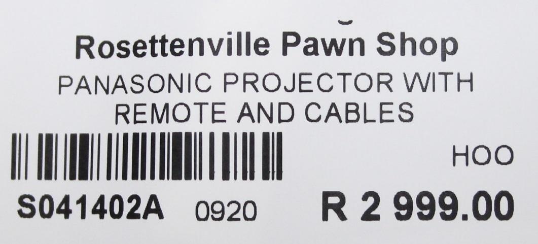 Panasonic projector S041402A #Rosettenvillepawnshop
