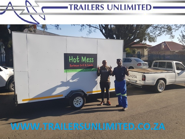 MOBILE CATERING TRAILERS  3500MM UNIT  MOBILE