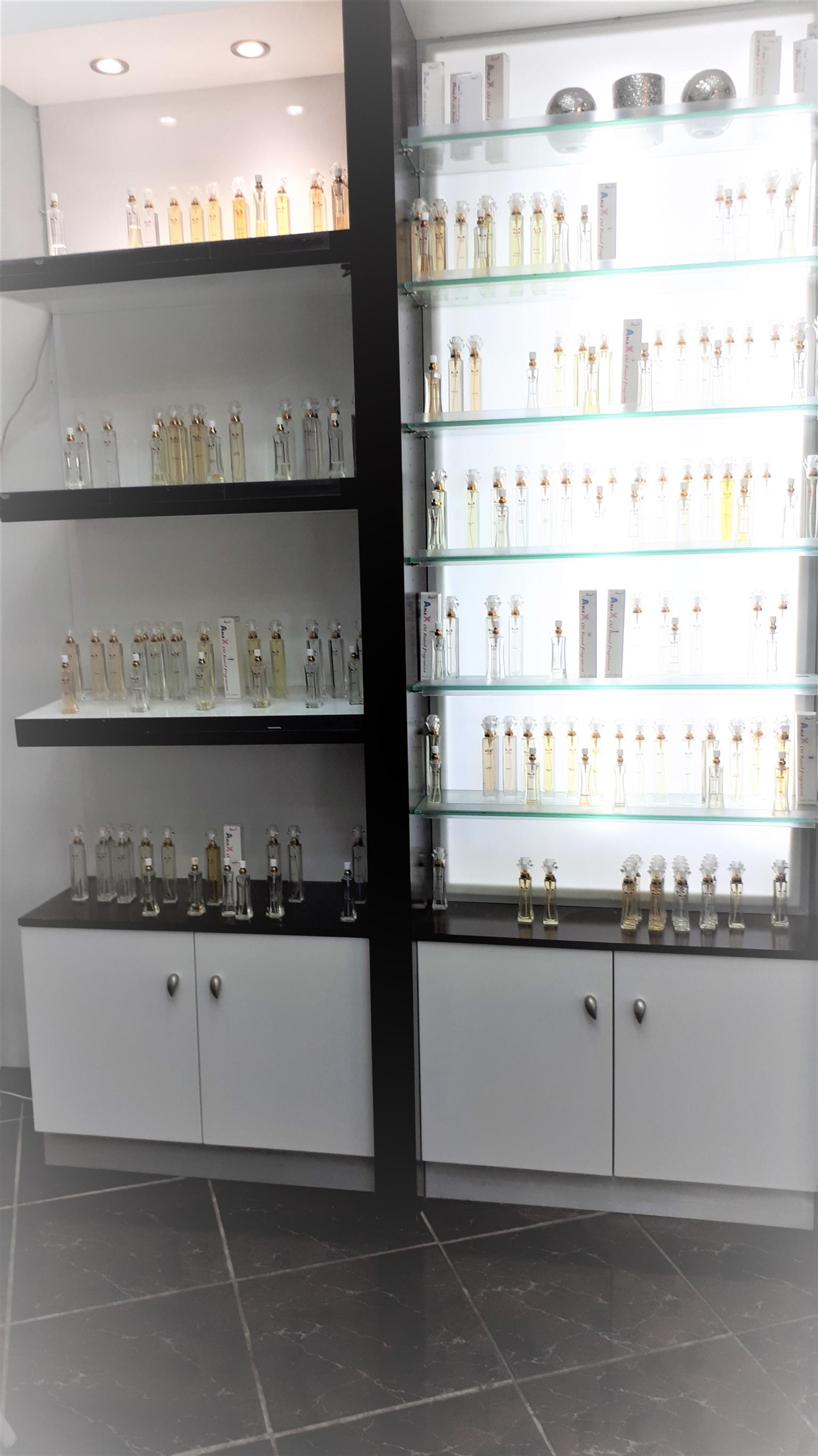 Shopfitting Displays - Solid Wood and Glass With Backlights