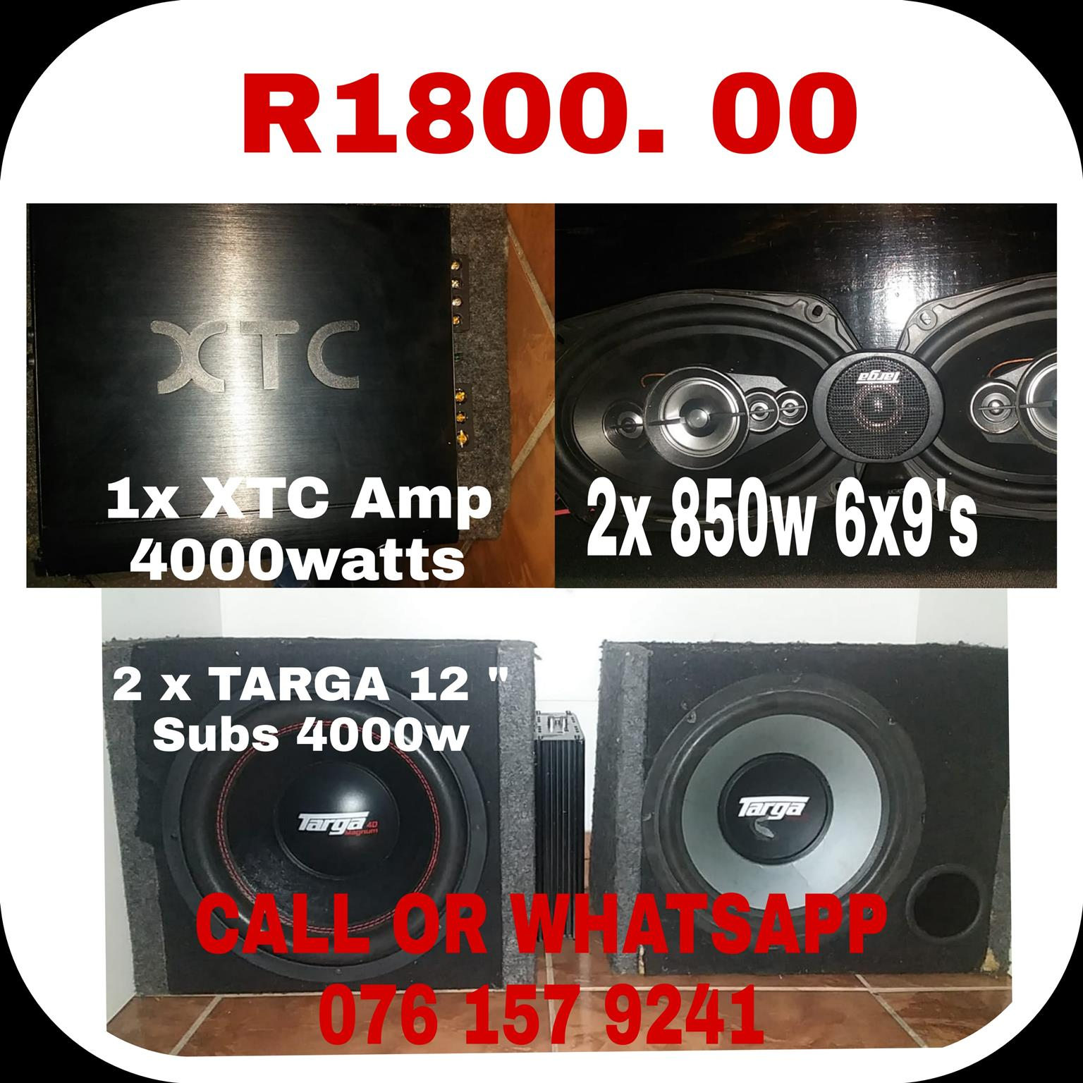 Targa AMPLIFIER and xtc sub