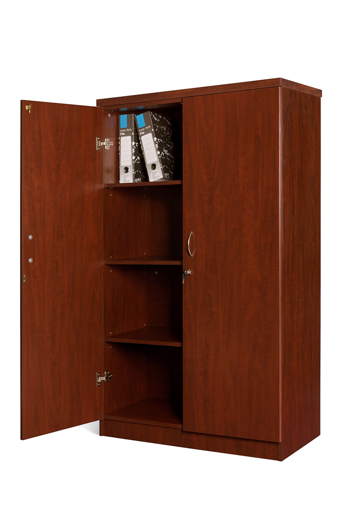 Stationery Cabinet with 3 adjustable shelves.