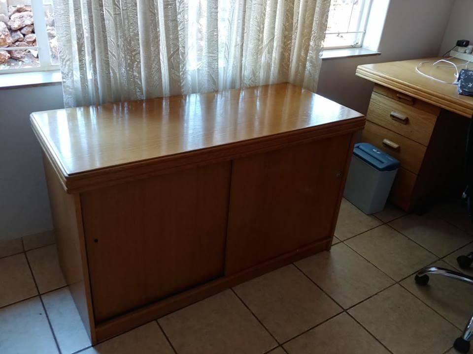 Sliding door wooden cabinet