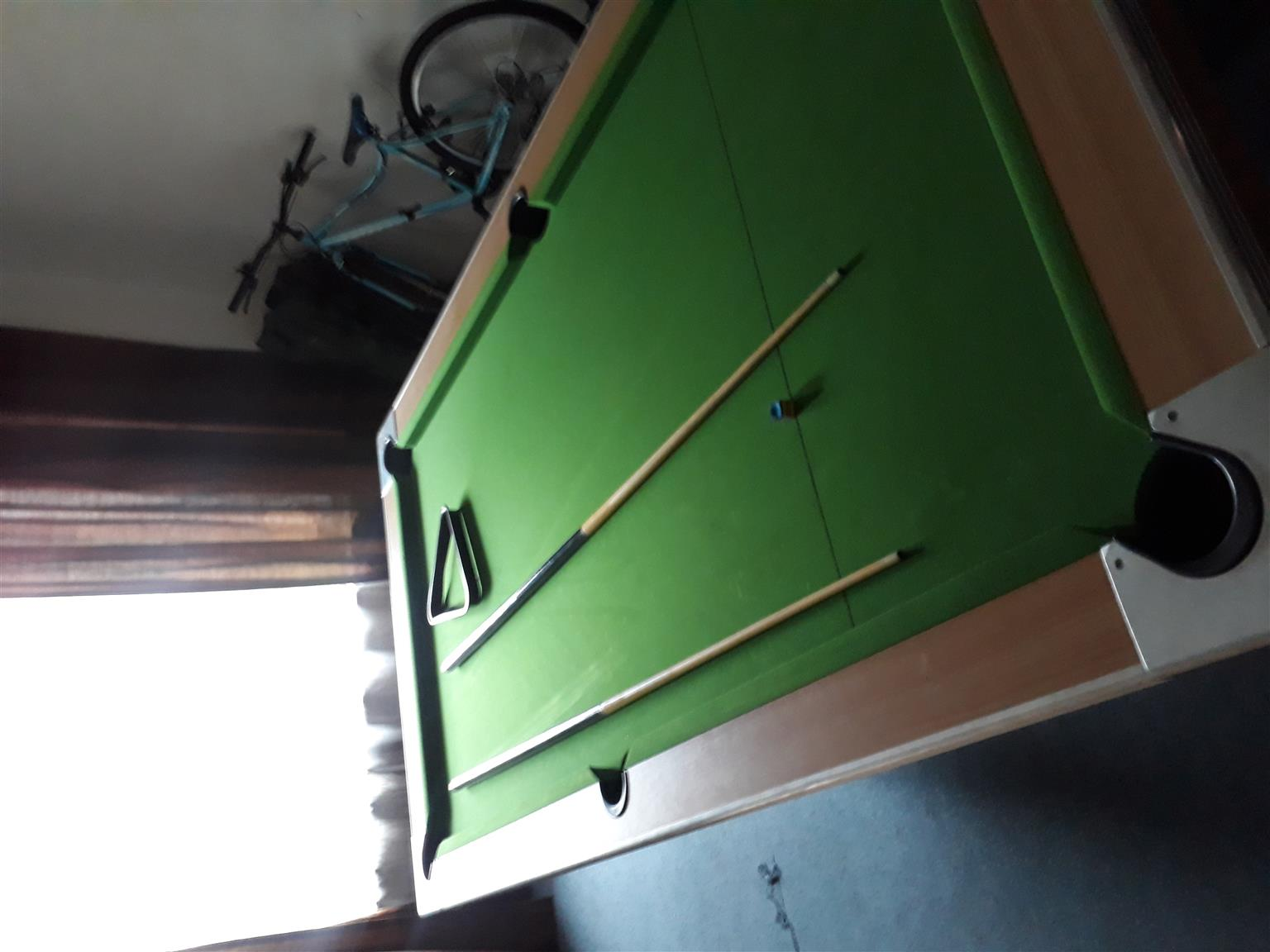 Pool table with table top in beautiful