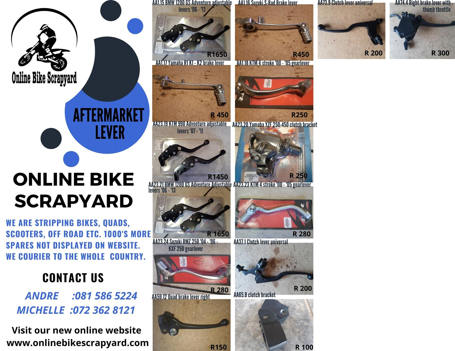 Aftermarket Motorcycle Levers