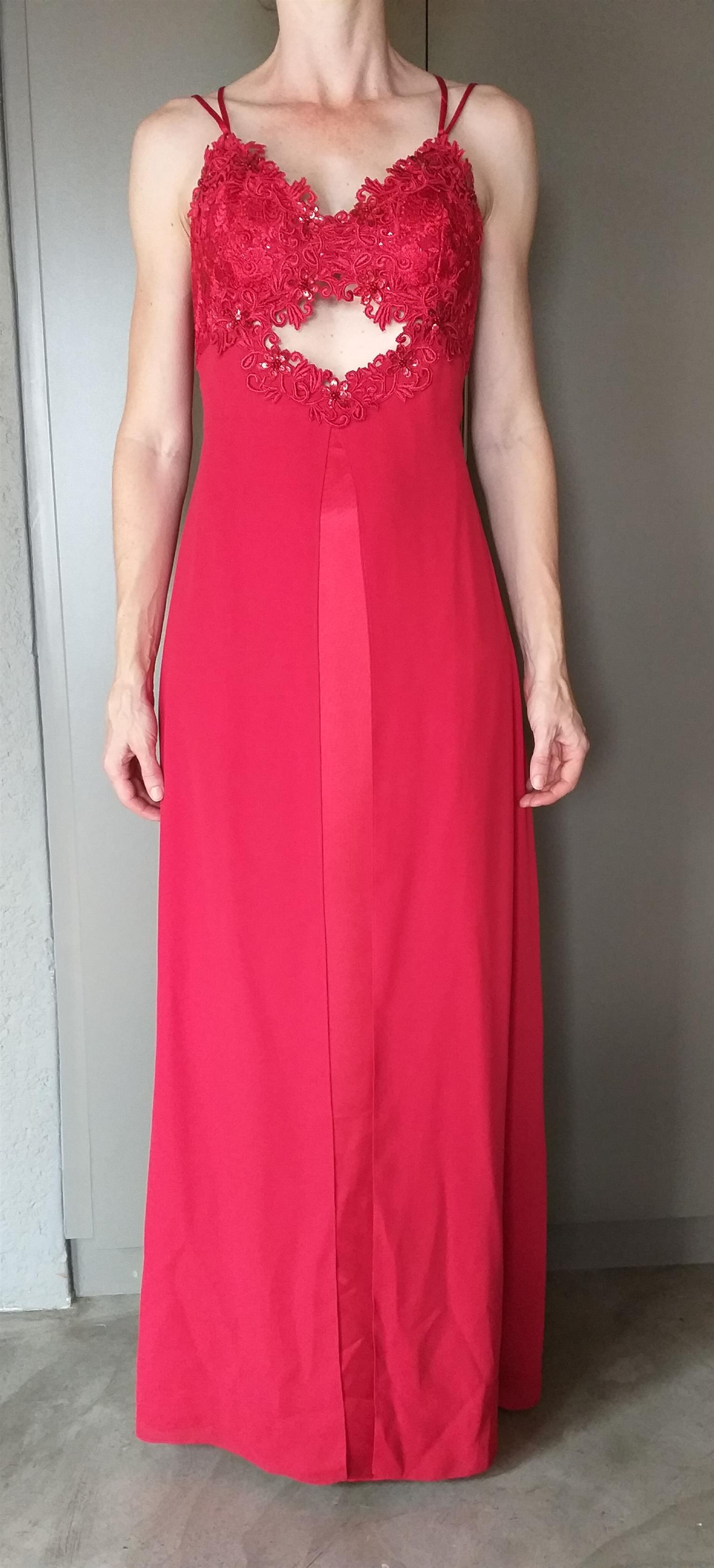 Pallu Red Evening Dress
