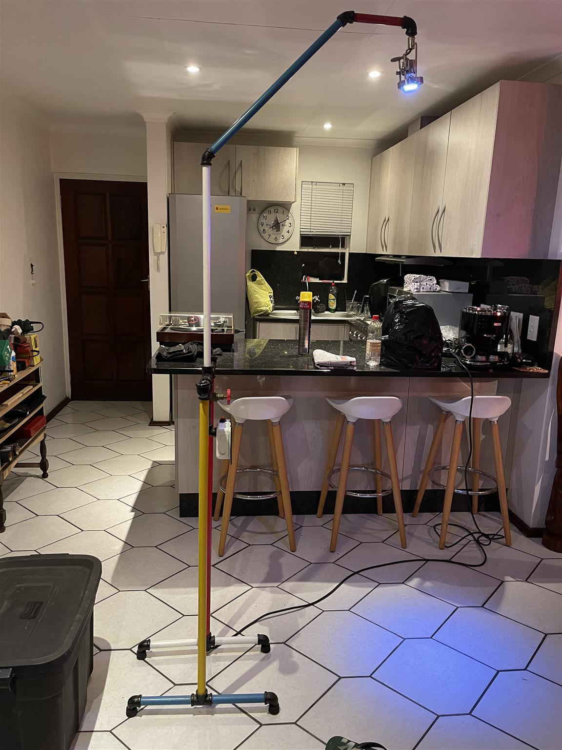 Unique SteamPunk Standing Lamp