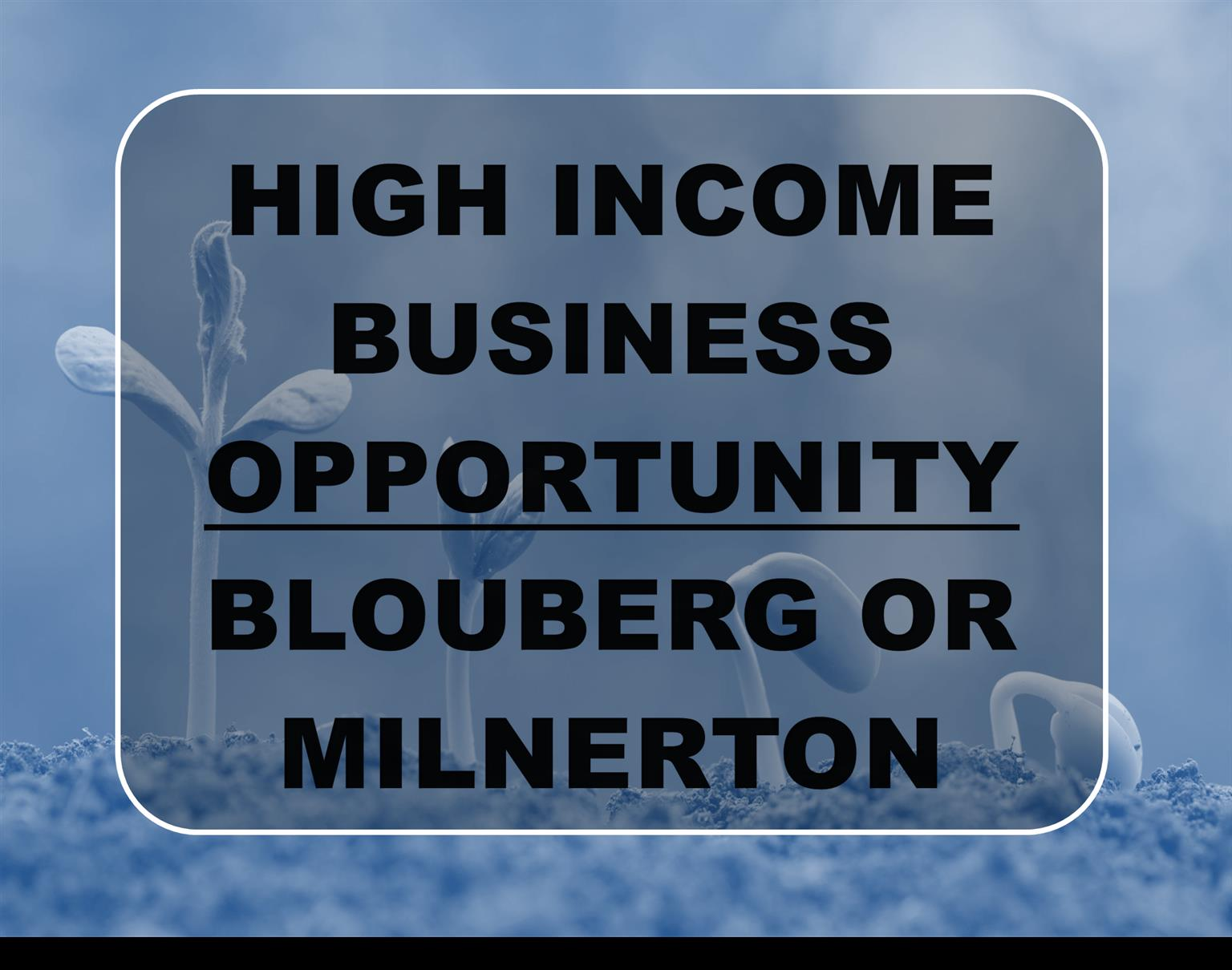 BLOUBERG OR MILNERTON - EXCEPTIONAL HIGH INCOME BUSINESS OPPORTUNITIES - DEPOSIT AND TERMS