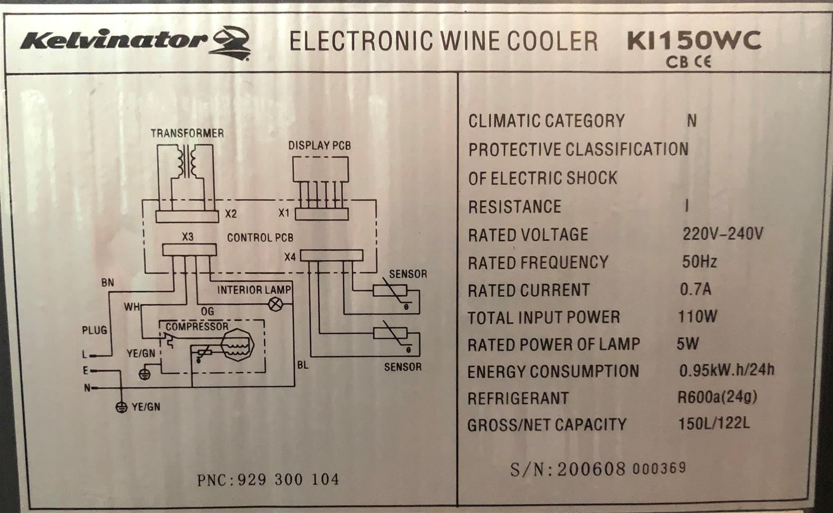 Kelvinator Electronic Wine Cooler