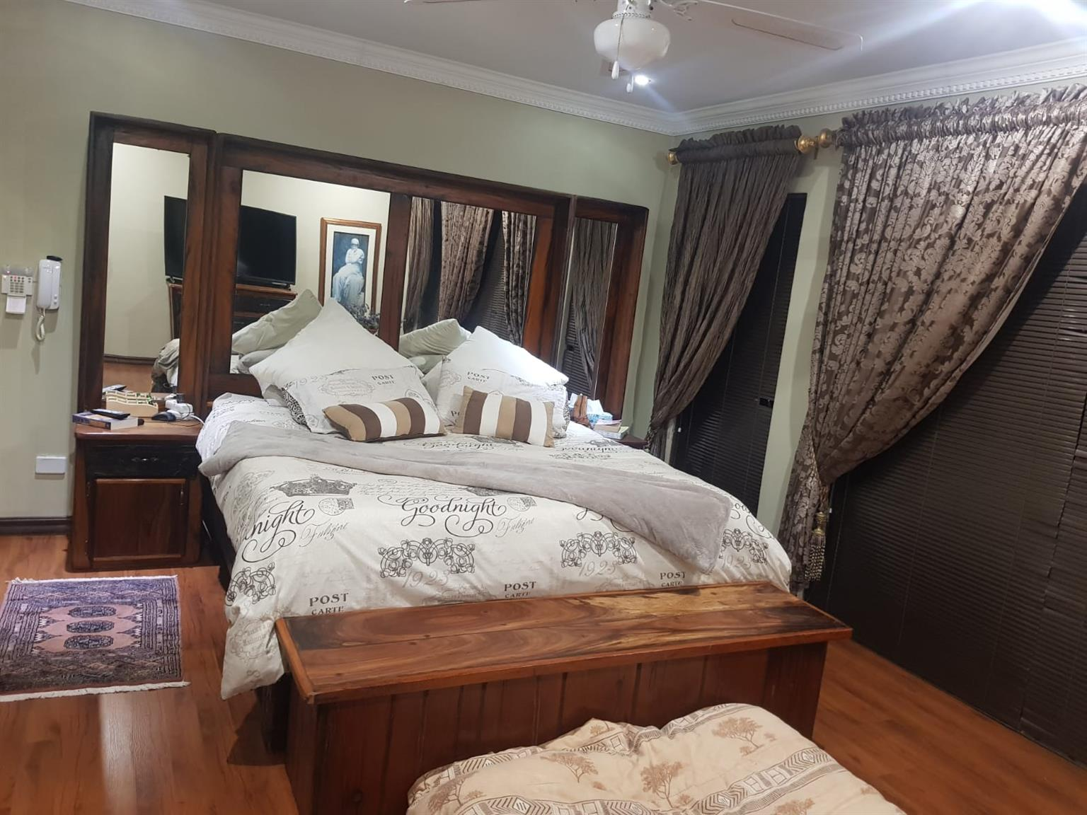 Bedroom suite and Mirror and Lounge furniture and many more