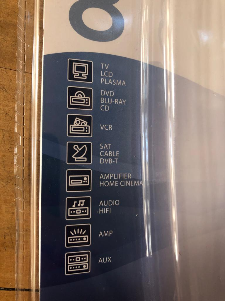 One For All Universal remote / Learner remote - Brand new and unused-control 8 devices