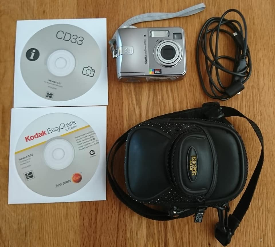 Kodak easy share cd33 kamera met sak en 128mb sd card