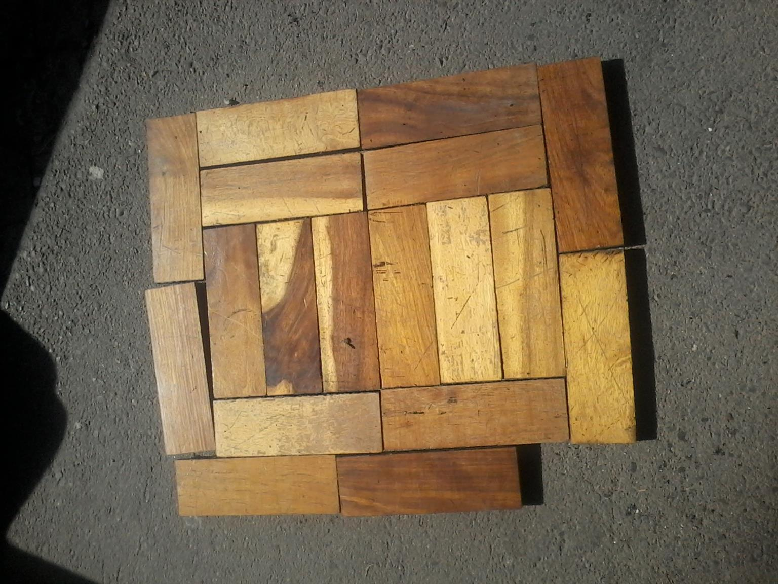 Reclaimed parquet flooring blocks for sale