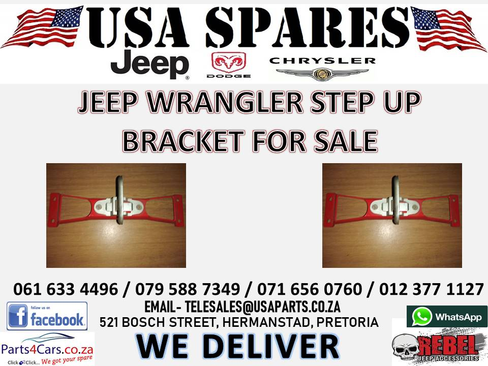 JEEP WRANGLER STEP UP BRACKET FOR SALE