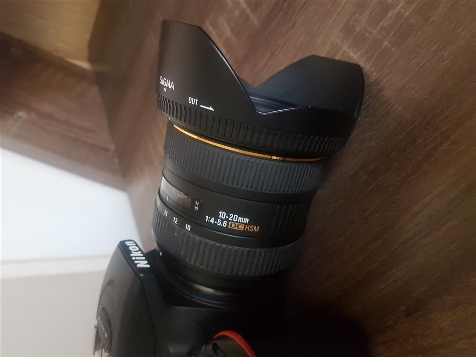 Sigma 10-20mm F/4-5.6 lens for Nikon F Mount