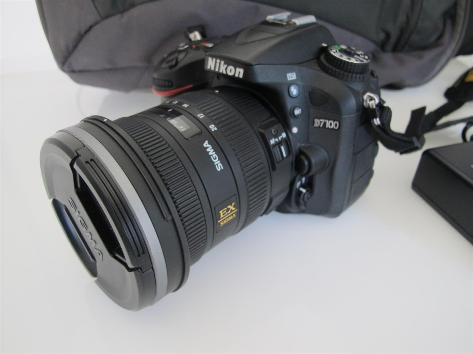 Nikon D7100 DSLR  24.1MP with Sigma 10-20 Lens Suttercount 7675