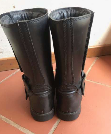 Mens leather Biker Boots