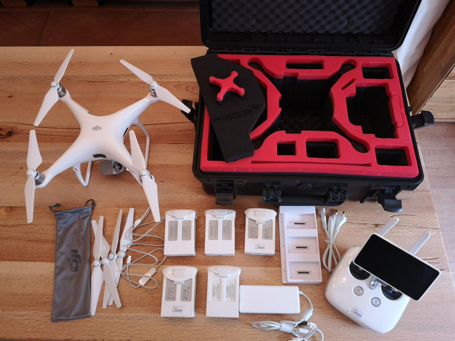 DJI Phantom 4 Pro Plus Drone - Excellent Condition - 4 batteries and accessories