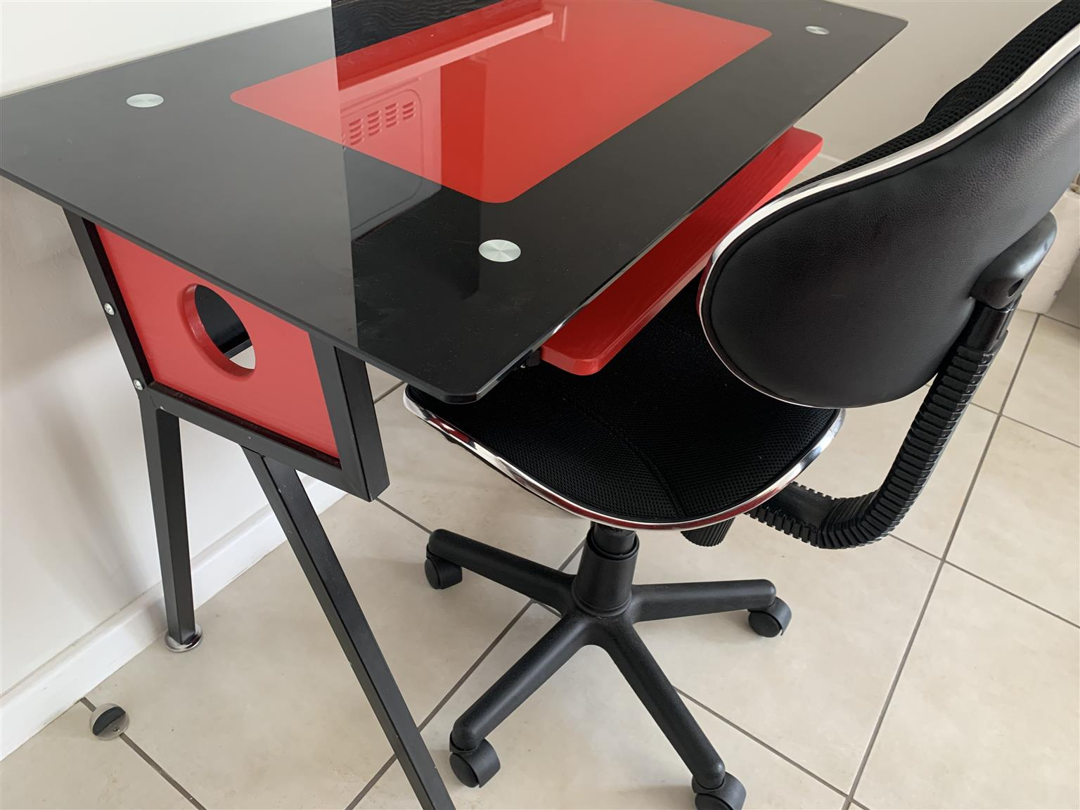 Glass Desk & Chair for sale