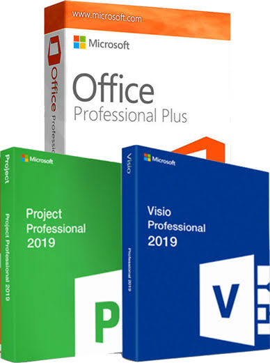 Office 2019 professional visio & project