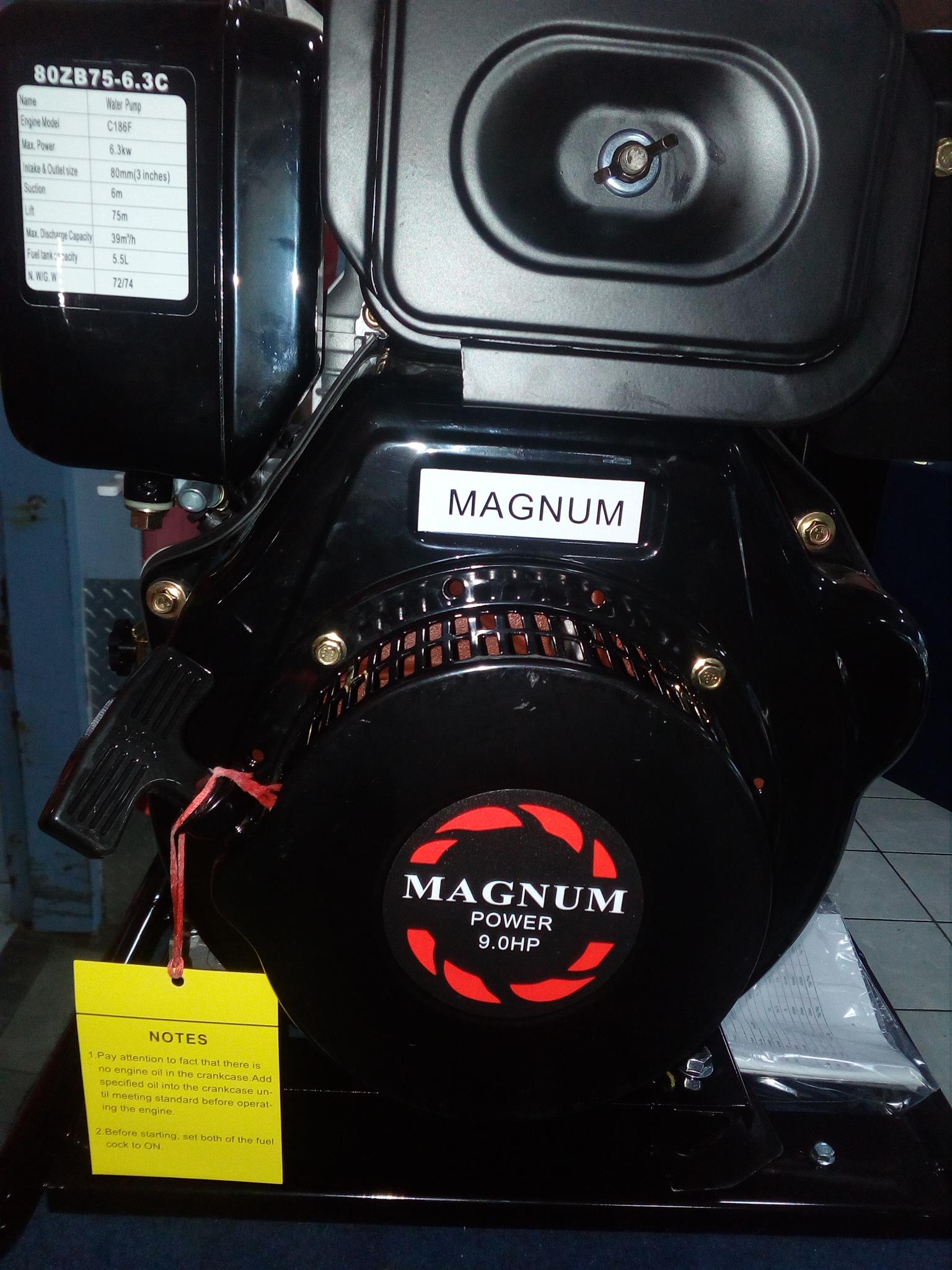 Magnum 186F/9HP Diesel Engine with Recoil Start, price incl vat