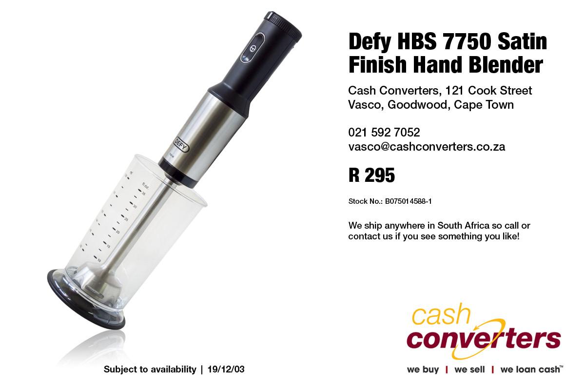 Defy HBS 7750 Satin Finish Hand Blender