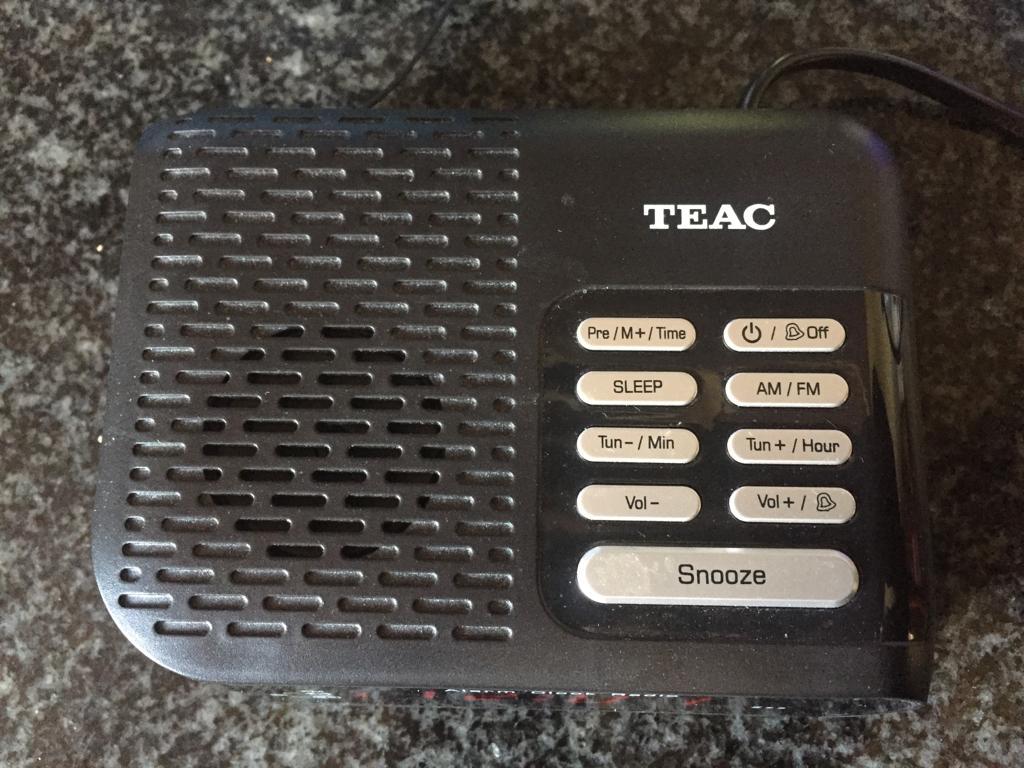 TEAC Digital Alarm Clock radio CRX-366 in box with manual