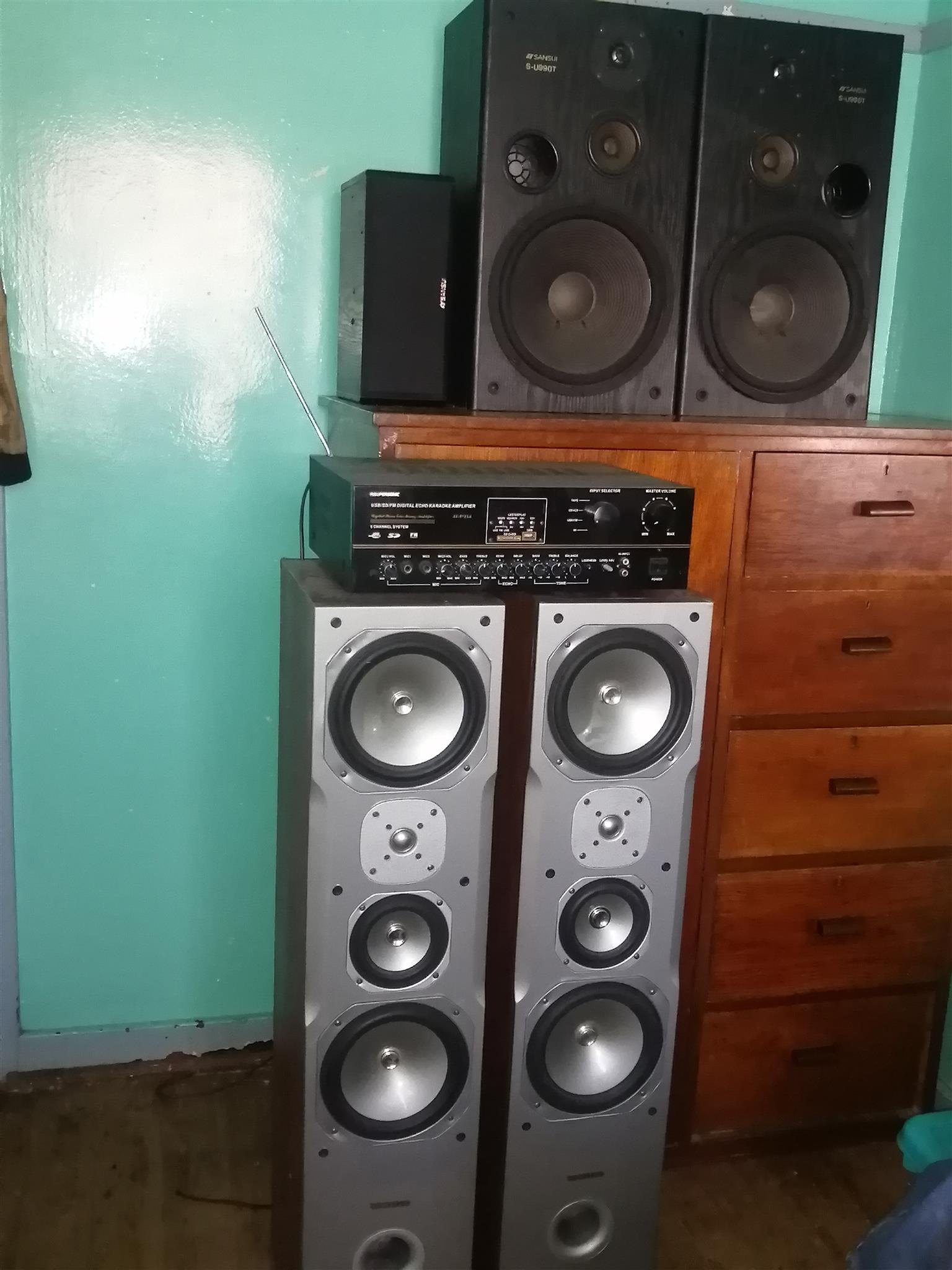 house sound Amp and speakers