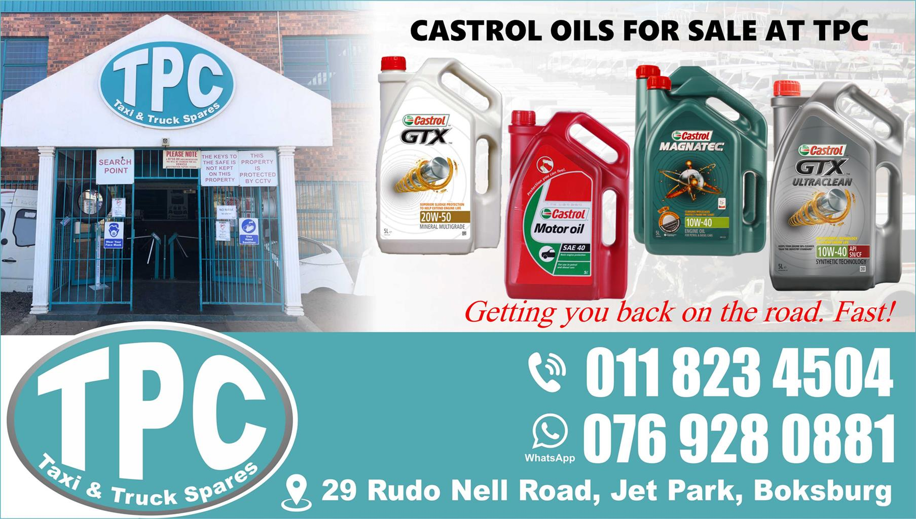 Castrol Oils - For Sale at TPC