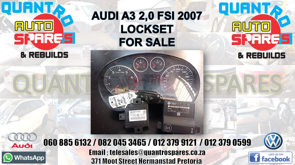 Audi A3 2.0 fsi 2007 lockset for sale