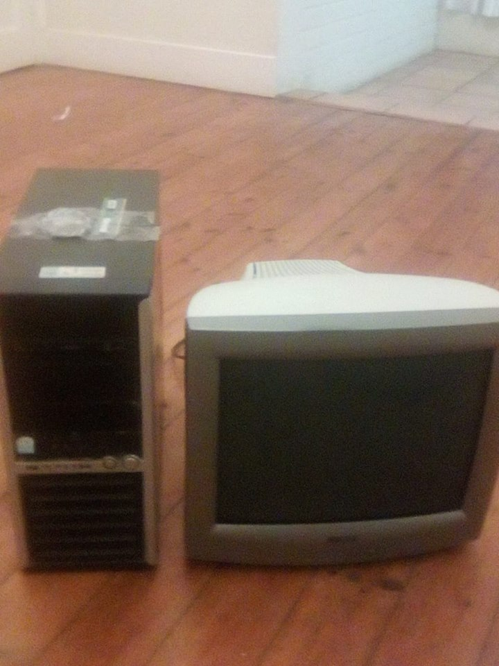 PC BOX AND MONITOR FOR SALE