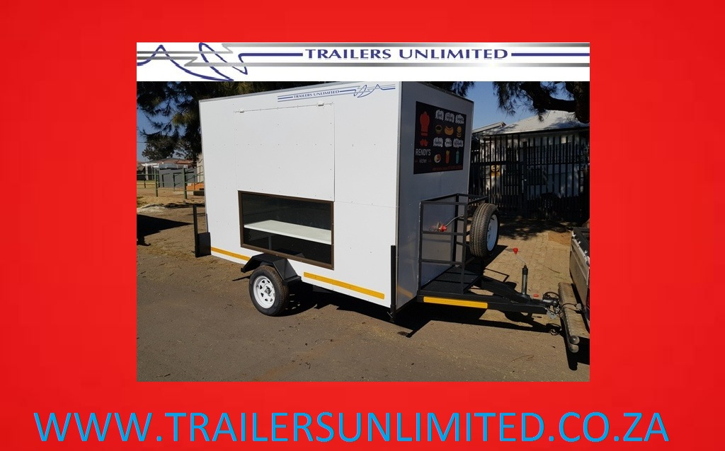 2900 X 1800 X 2000 MOBILE KITCHEN WITH DISPLAY WINDOW.