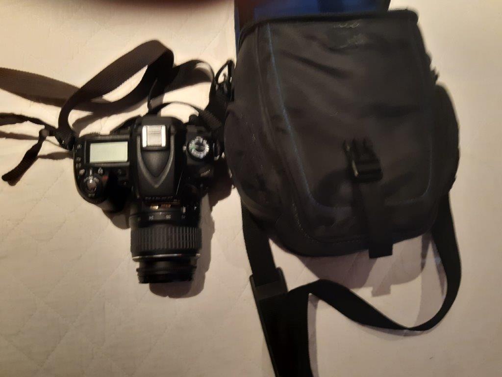 Nikon DSLR Camera with Lens and camera case